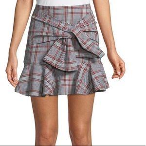 VERONICA BEARD Picnic Plaid Print Skirt